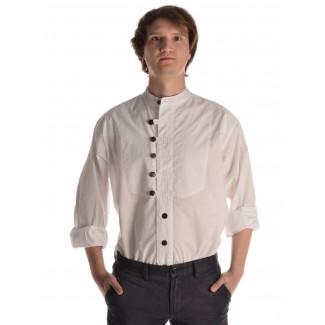 Mittelalter Hemd Iwein in Weiß Frontansicht 2