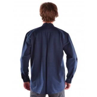 Mittelalter Hemd Erec in Blau Rückansicht