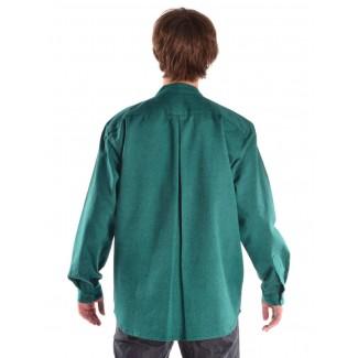 Mittelalter Hemd Erec in Grün Rückansicht