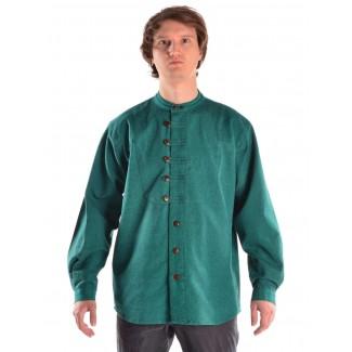 Mittelalter Hemd Erec in Grün Frontansicht