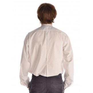 Mittelalter Hemd Feirefiz in Weiß Rückansicht