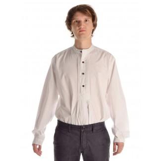 Mittelalter Hemd Feirefiz in Weiß Frontansicht