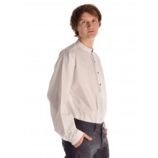 Mittelalter Hemd Feirefiz in Weiß Seitenansicht