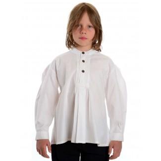 Mittelalter Kinderhemd Feirefiz in Weiß Frontansicht