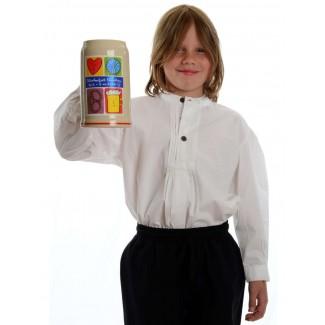 Mittelalter Kinderhemd Feirefiz in Weiß Frontansicht 2