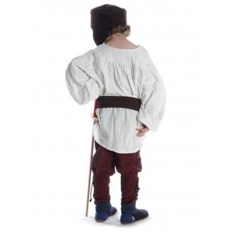 Mittelalter Kinderhemd Parzival in Beige Rückansicht 2