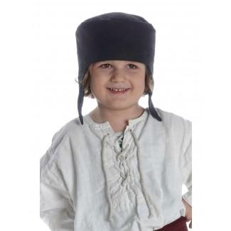 Mittelalter Kinderhemd Parzival in Beige Detailansicht