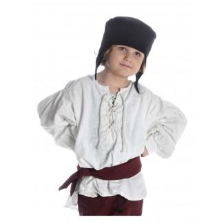 Mittelalter Kinderhemd Parzival in Beige Frontansicht 5