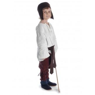Mittelalter Kinderhemd Parzival in Beige Seitenansicht 5