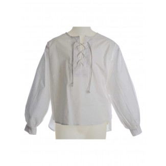 Mittelalter Kinderhemd Parzival in Weiß Frontansicht