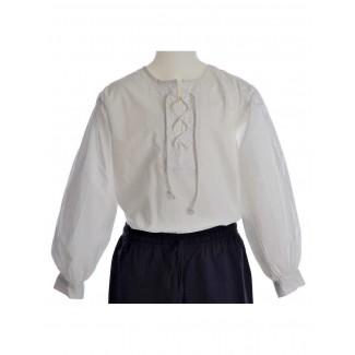 Mittelalter Kinderhemd Parzival in Weiß Frontansicht 2