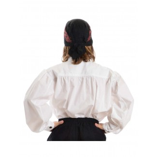 Mittelalter Kinderhemd Klingsor in Weiß Rückansicht
