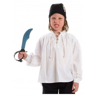 Mittelalter Kinderhemd Klingsor in Weiß Frontansicht 2