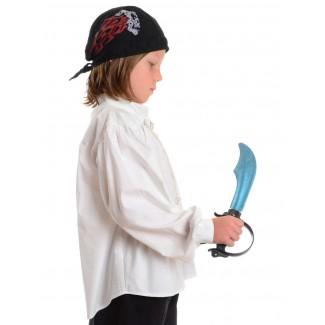 Mittelalter Kinderhemd Klingsor in Weiß Seitenansicht
