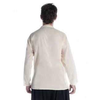 Mittelalter Hemd Anfortas in Beige Rückansicht