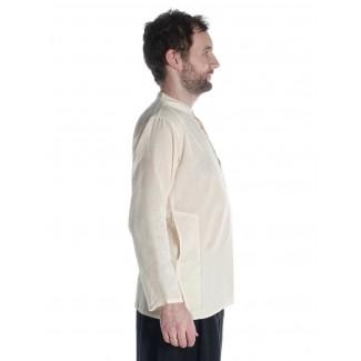 Mittelalter Hemd Anfortas in Beige Seitenansicht