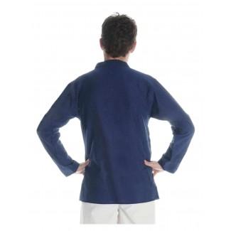 Mittelalter Hemd Anfortas in Blau Rückansicht