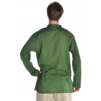 Mittelalter Hemd Anfortas in Grün Rückansicht