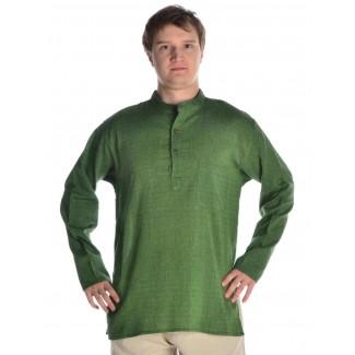 Mittelalter Hemd Anfortas in Grün Frontansicht