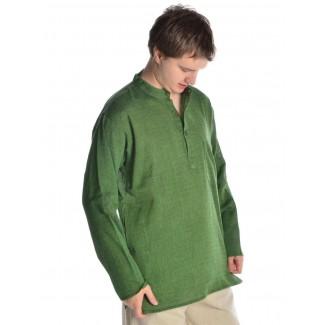 Mittelalter Hemd Anfortas in Grün Seitenansicht