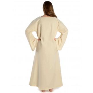 Mittelalter Kleid Sigune in Beige Rückansicht