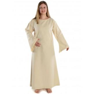 Mittelalter Kleid Sigune in Beige Frontansicht