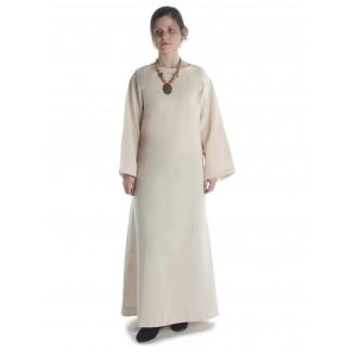 Mittelalter Kleid Sigune in Beige Frontansicht 2