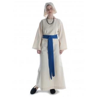 Mittelalter Kleid Sigune in Beige Frontansicht 3