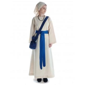 Mittelalter Kleid Sigune in Beige Frontansicht 4