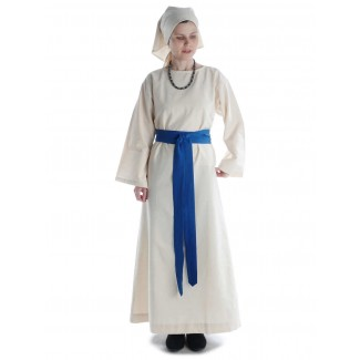 Mittelalter Kleid Sigune in Beige Frontansicht 5