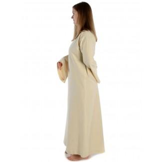 Mittelalter Kleid Sigune in Beige Seitenansicht