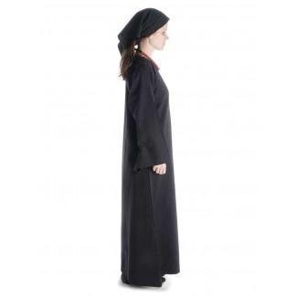 Mittelalter Kleid Sigune in Schwarz Seitenansicht