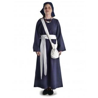 Mittelalter Kleid Sigune in Blau Frontansicht 3