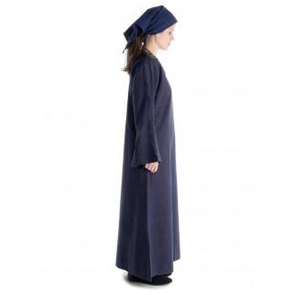 Mittelalter Kleid Sigune in Blau Seitenansicht
