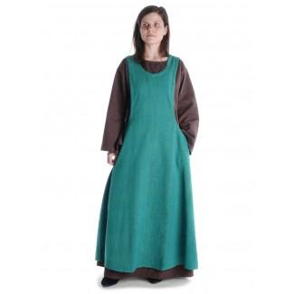 Mittelalter Kleid Sigune in Braun Frontansicht 3