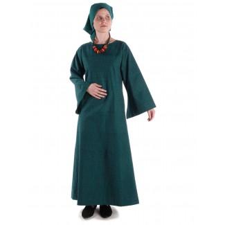 Mittelalter Kleid Sigune in Grün Frontansicht