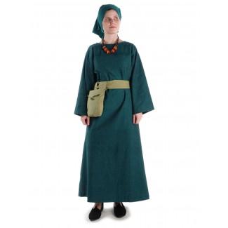 Mittelalter Kleid Sigune in Grün Frontansicht 2