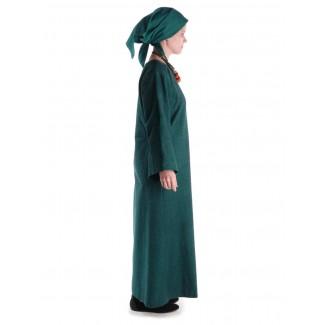 Mittelalter Kleid Sigune in Grün Seitenansicht