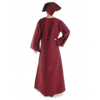 Mittelalter Kleid Sigune in Rot Rückansicht