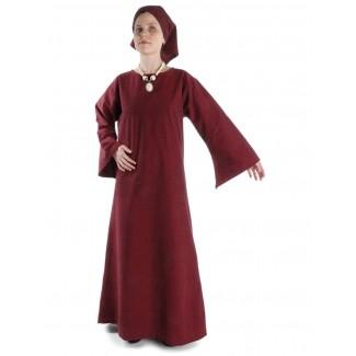 Mittelalter Kleid Sigune in Rot Frontansicht