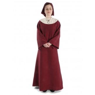 Mittelalter Kleid Sigune in Rot Frontansicht 2
