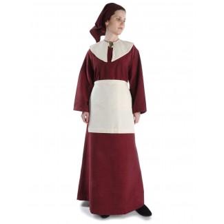 Mittelalter Kleid Sigune in Rot Frontansicht 4