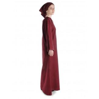 Mittelalter Kleid Sigune in Rot Seitenansicht