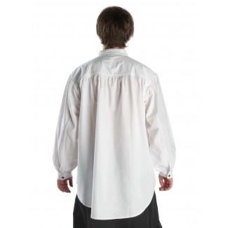 Mittelalter Schnürhemd Klingsor in Weiß Rückansicht