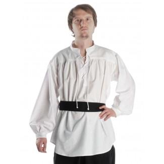 Mittelalter Schnürhemd Klingsor in Weiß Frontansicht 3