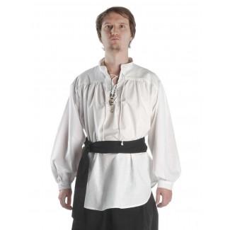 Mittelalter Schnürhemd Klingsor in Weiß Frontansicht 4