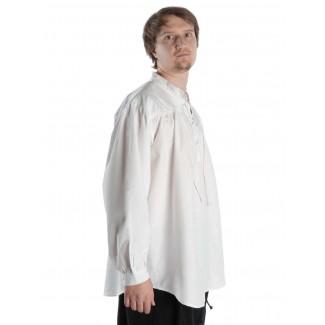Mittelalter Schnürhemd Klingsor in Weiß Seitenansicht