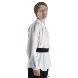 Mittelalter Schnürhemd Klingsor in Weiß Seitenansicht 2
