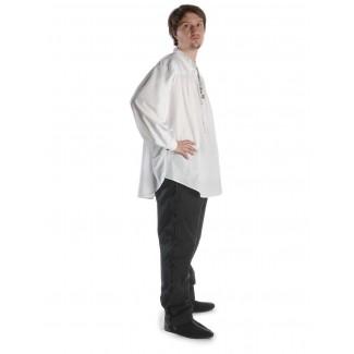 Mittelalter Schnürhemd Klingsor in Weiß Seitenansicht 4