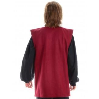 Mittelalter Wams Edolanz in Rot Rückansicht